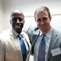 Professor Josh Hastey and Chaz Rogers