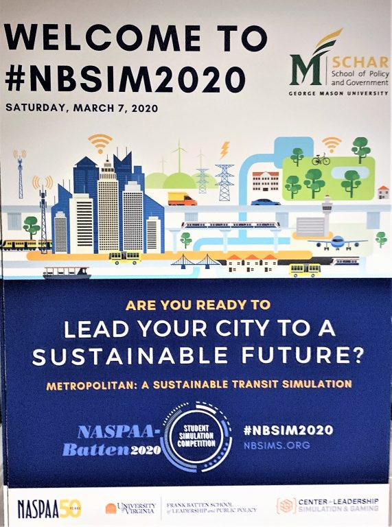 'Welcome to #NBSIM2020' graphic.