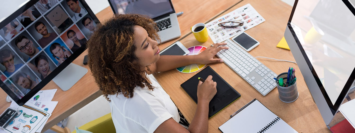 Students interested in a graphic design degree can explore Regent University's BFA in Graphic Arts.