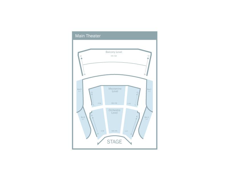 Main Theatre Seating Chart