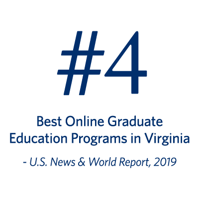 U.S. News & World Report 2018 recognized Regent University's School of Education as number one among the best online graduate education programs in Virginia.