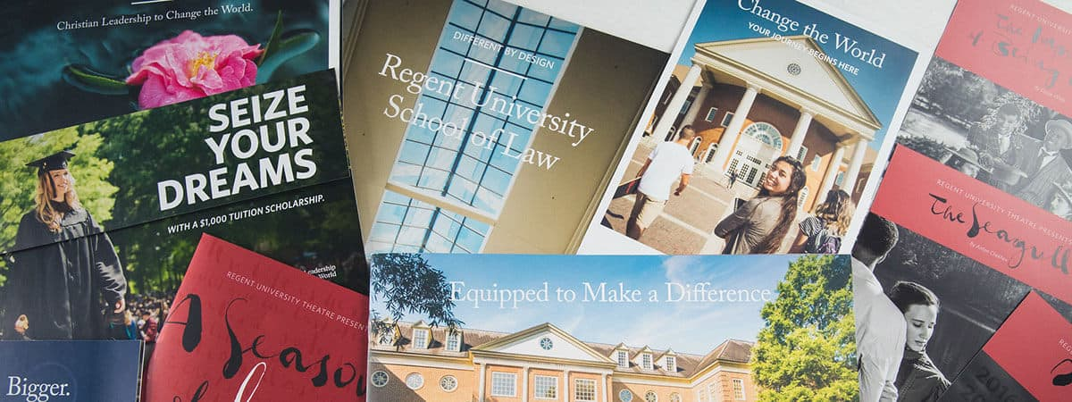Regent University won gold in many categories in Higher Education Marketing Report's 32nd Annual Educational Advertising Awards.