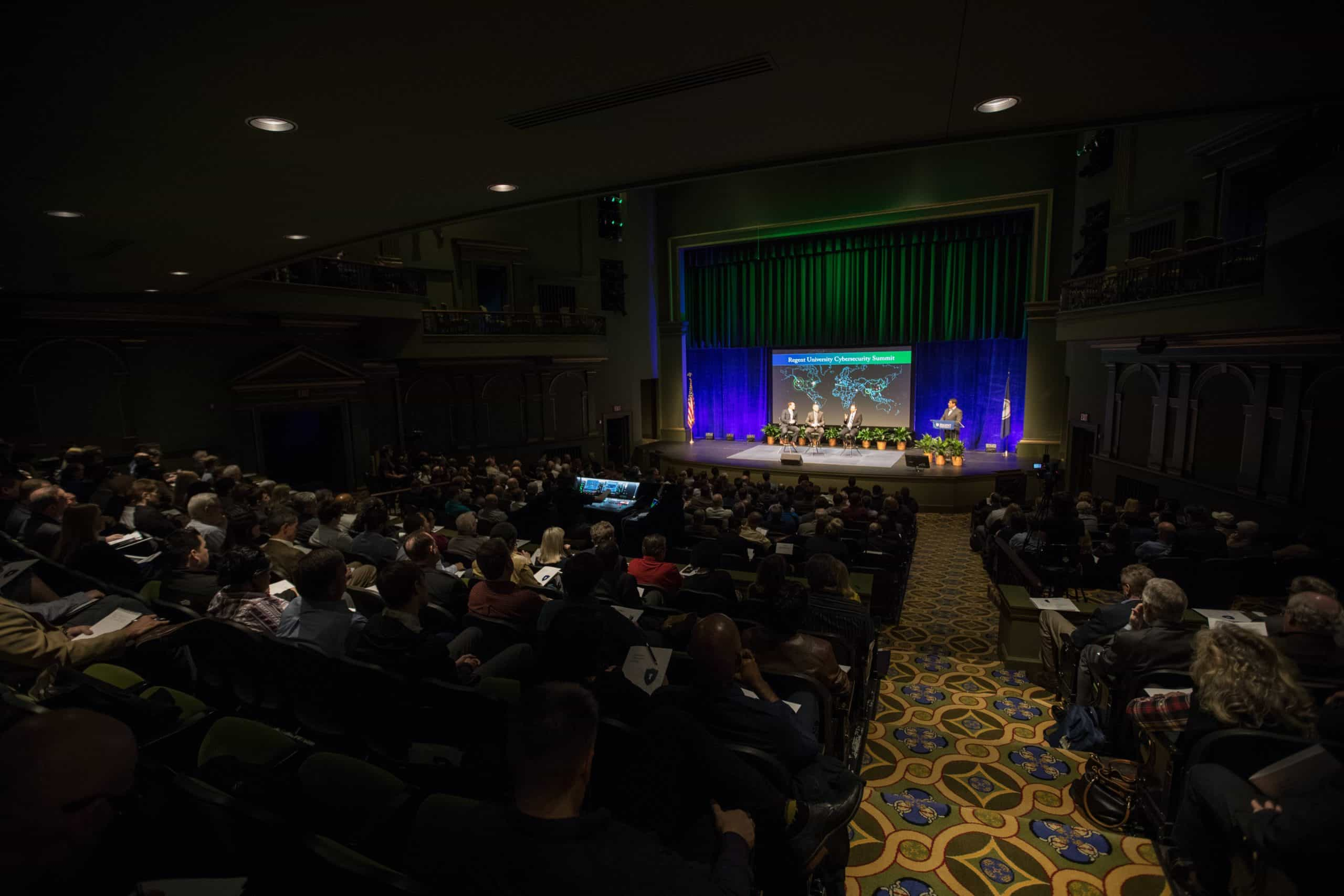 More than 500 guests attended Regent's first-ever Cybersecurity Summit. Photo courtesy of Eric Lusher.