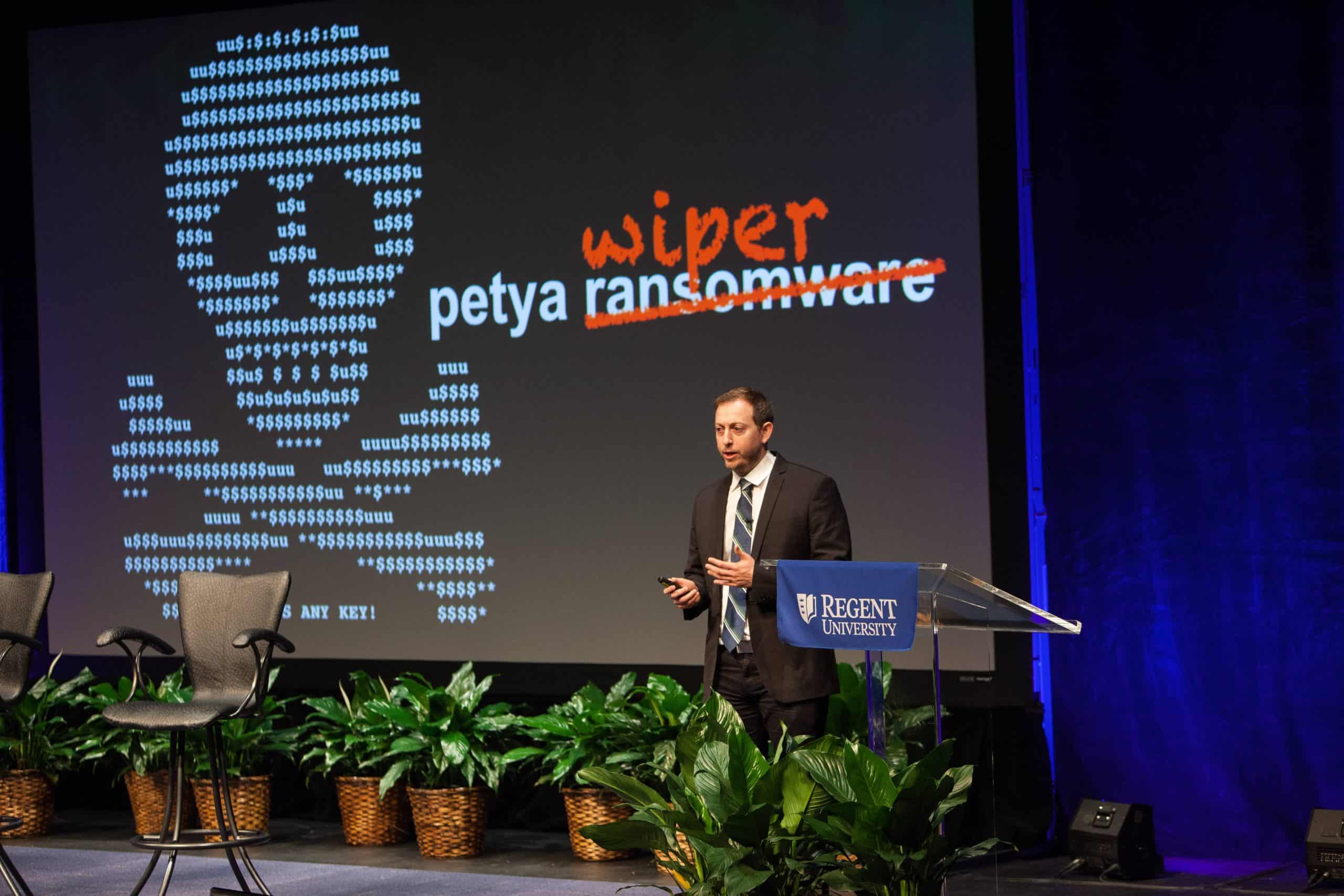 Regent University's inaugural Cybersecurity Summit. Photo courtesy of Eric Lusher.
