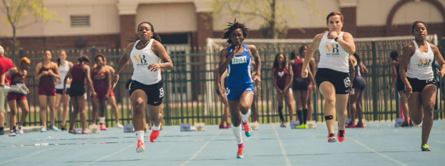 Proud to be a Regent Royal: Analysa Isaac became Regent University's first athlete to compete in the NCCAA Division I Indoor Track and Field Nationals.