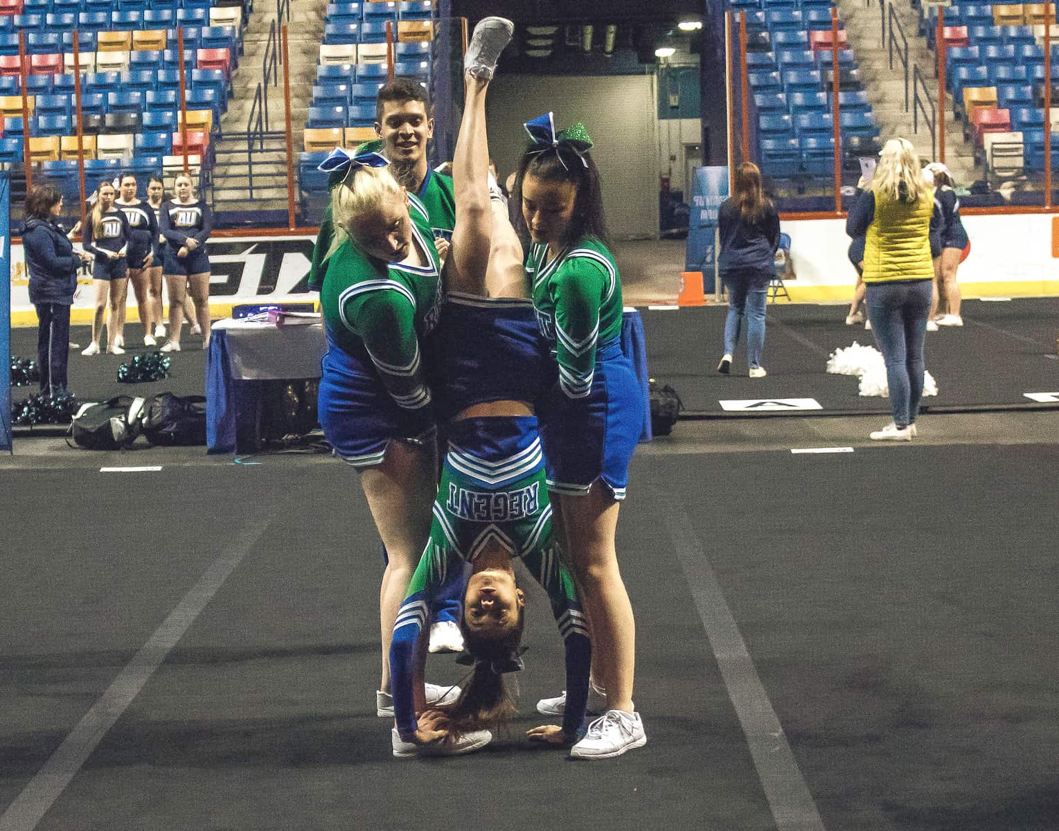 Regent's cheerleaders have put on their crowns as Royals and have stepped into the spotlight.