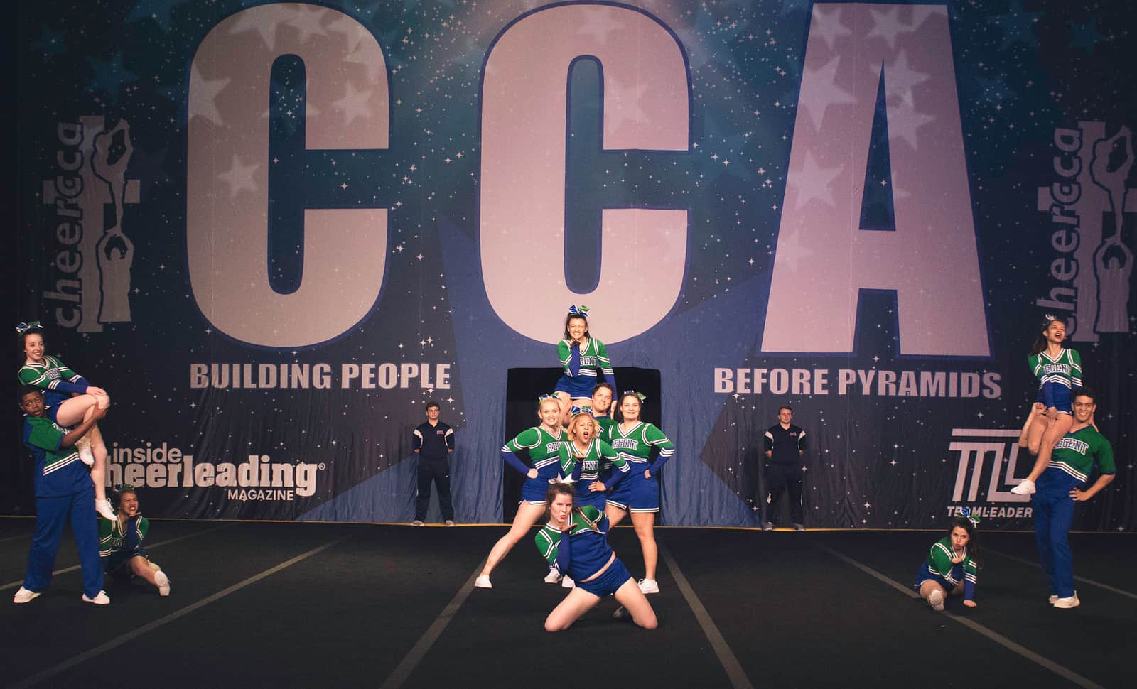 Regent Royals Cheerleaders worked exceptionally hard to cultivate a sense of unity in skill.