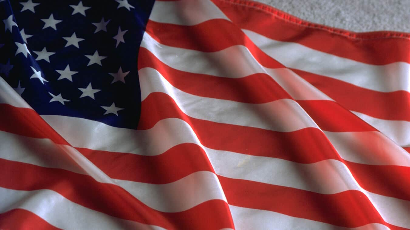 The American flag: Pursue your Master's in National Security Studies at Regent- online or in Virginia Beach, VA 23464.