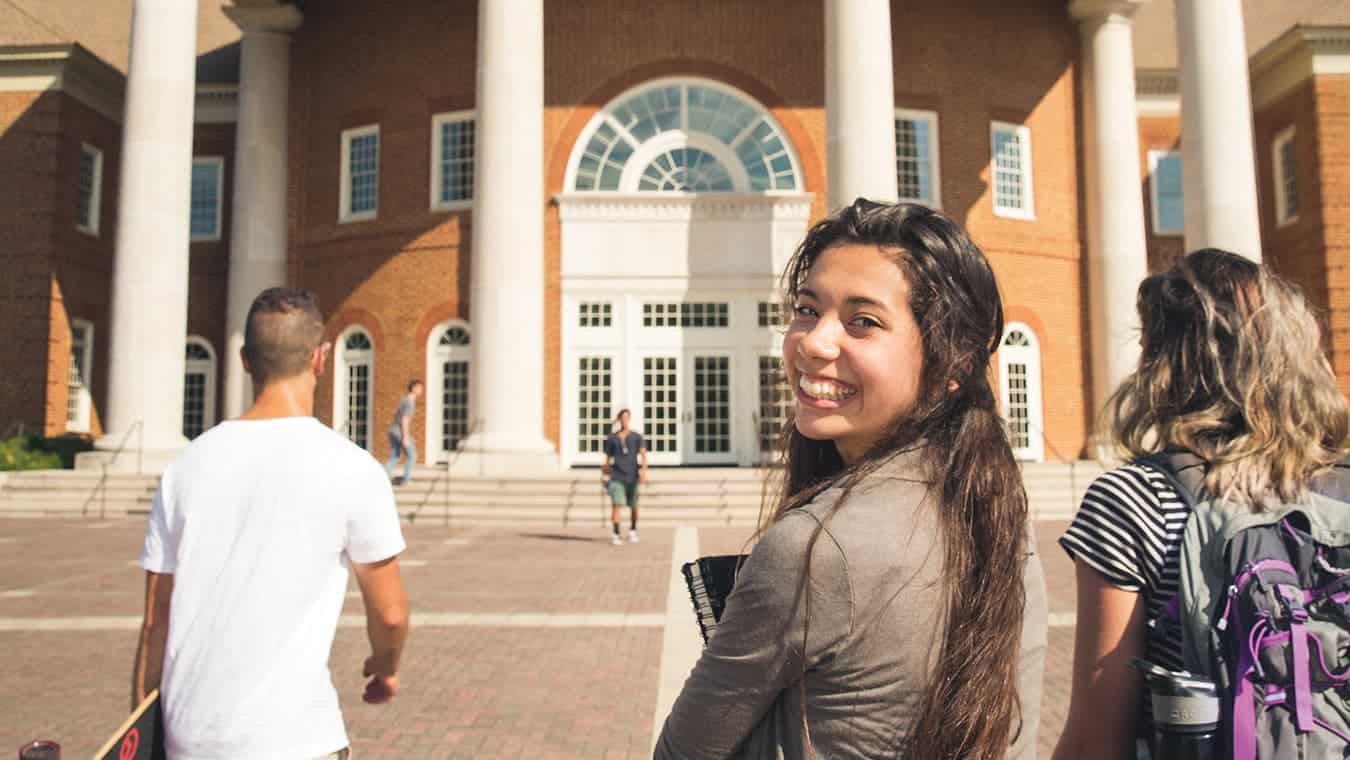A graduate on campus: Pursue an MAOL in Servant Leadership degree at Regent University.