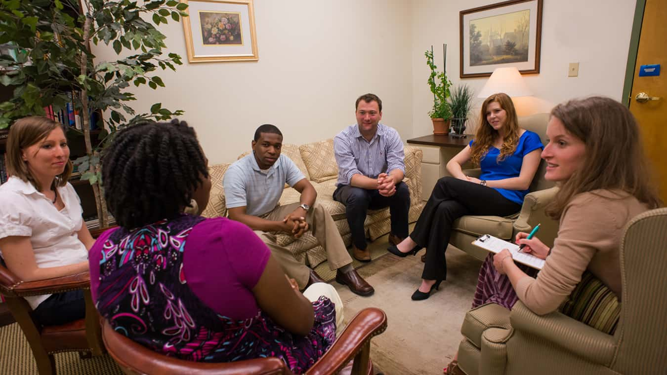 A group on campus: Explore Regent's online PhD in Counseling and Psychological Studies – Addictions Counseling program.