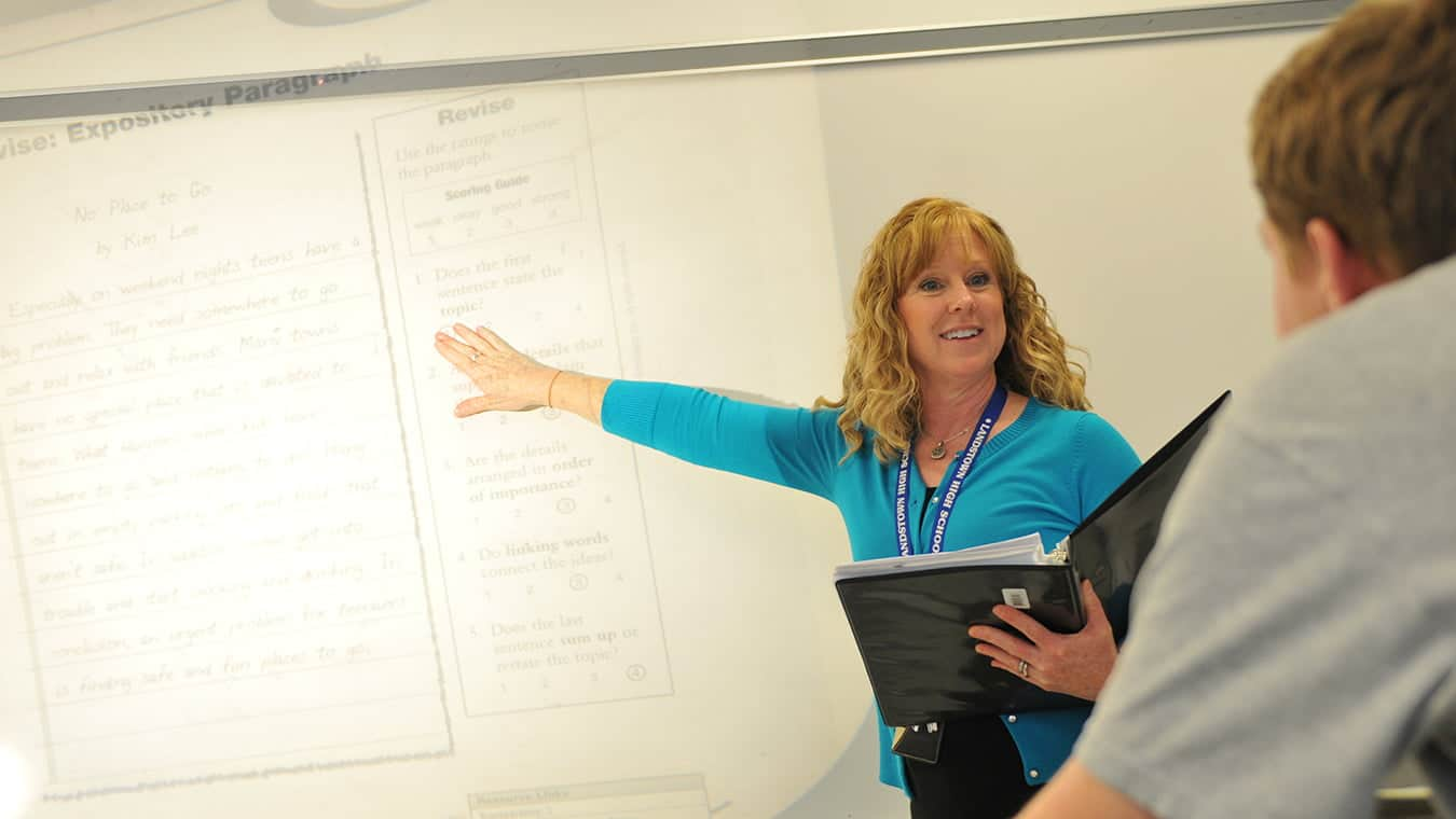 An alumna teaching: Pursue a Doctor of Education (Ed.D.) in Higher Education degree at Regent University.