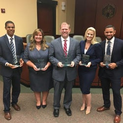 Regent University School of Law's trial won the 2018 Stetson Pretrial Championships.