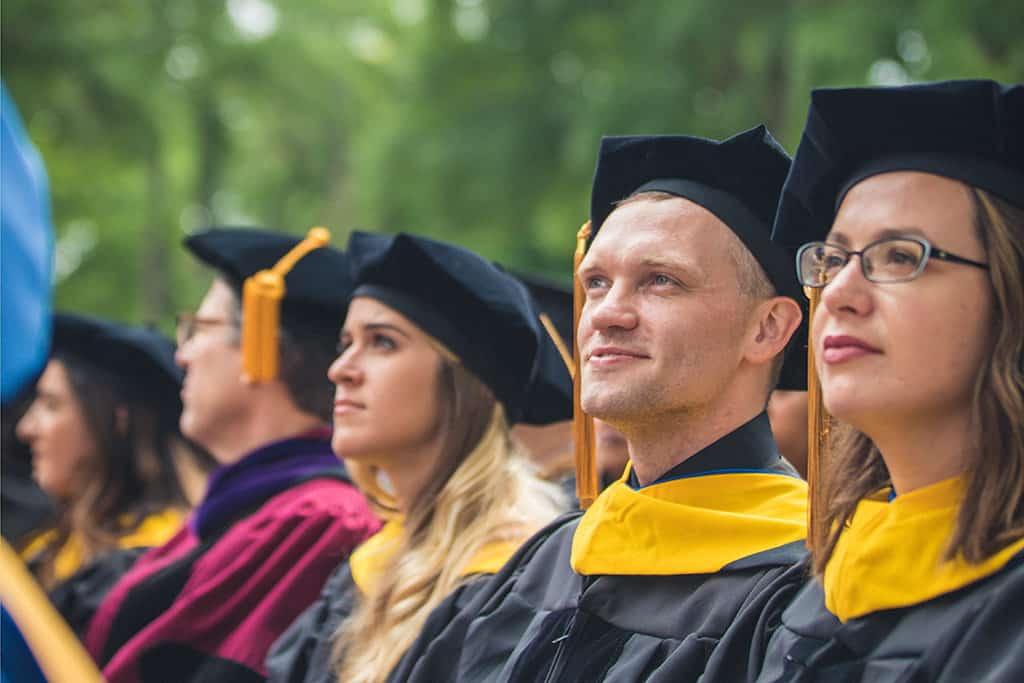 Graduates at Regent University's 39th Commencement ceremony in Virginia Beach.