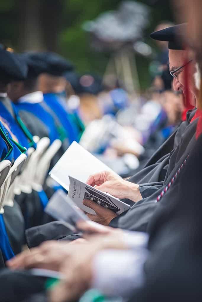 Graduates at Regent University's 39th Commencement ceremony in Virginia Beach, VA 23464.