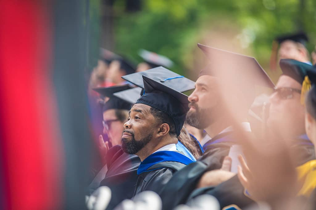 Graduates at Regent University's 39th Commencement ceremony.