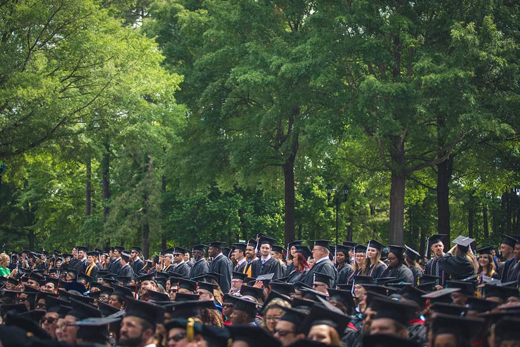 Regent University's commencement ceremony.