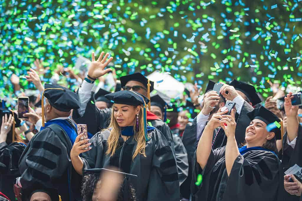 Celebrating Regent University's commencement ceremony.