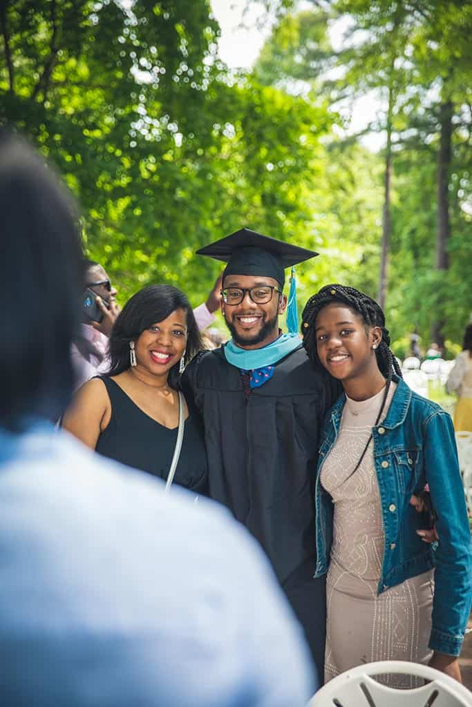 Celebrating family during Regent University's beautiful commencement ceremony.