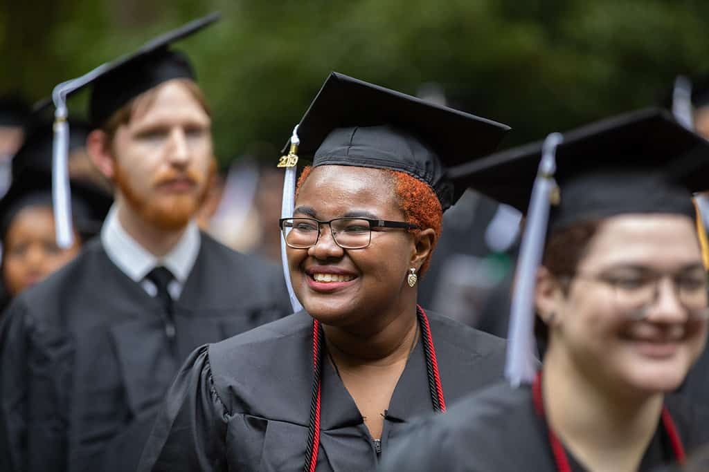 A graduate at Regent University's 39th Commencement ceremony in Virginia Beach.
