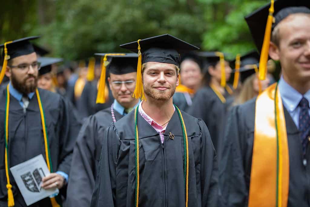 Regent University graduates during the commencement ceremony.