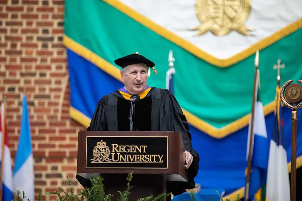 Regent University's beautiful commencement ceremony in Virginia Beach.