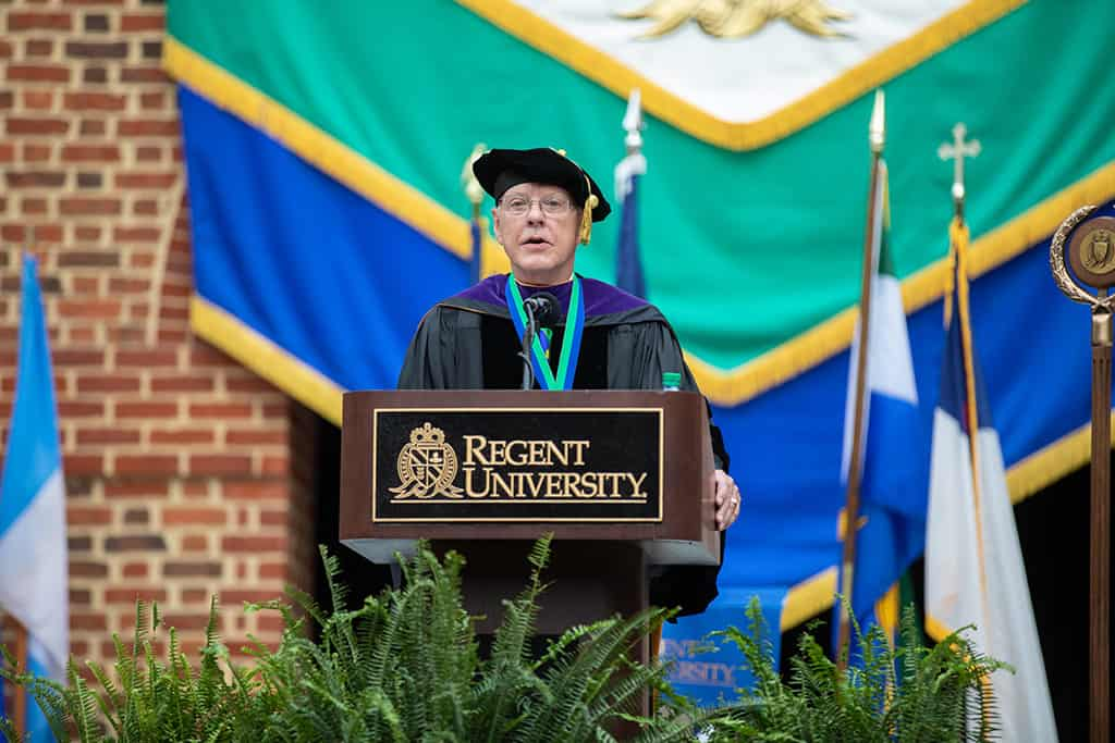 Moments from Regent University's commencement ceremony in Virginia Beach.