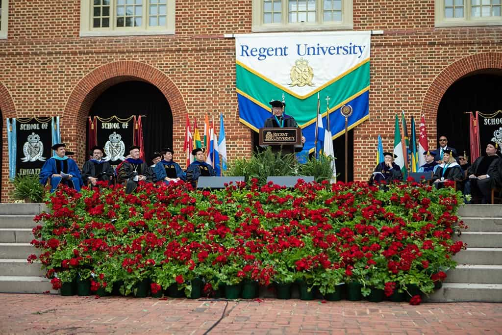 Regent University's commencement ceremony, a time of reflection, joy and celebration.