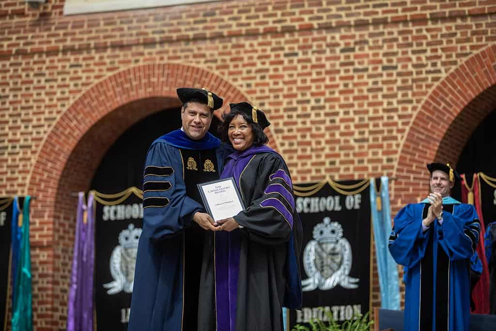 Moments of pride during Regent University's 2019 commencement ceremony.