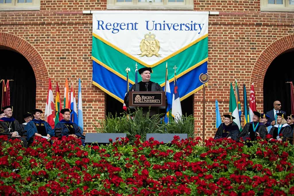 Moments from Regent University's beautiful commencement ceremony.