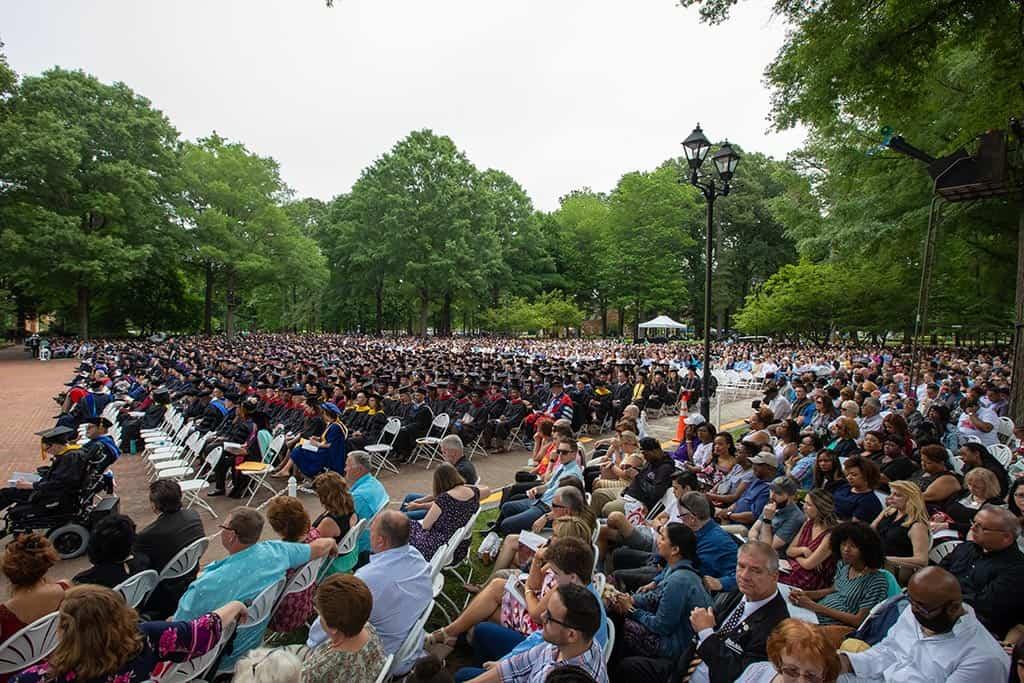 Regent's beautiful commencement ceremony held on campus in Virginia Beach, VA 23464.