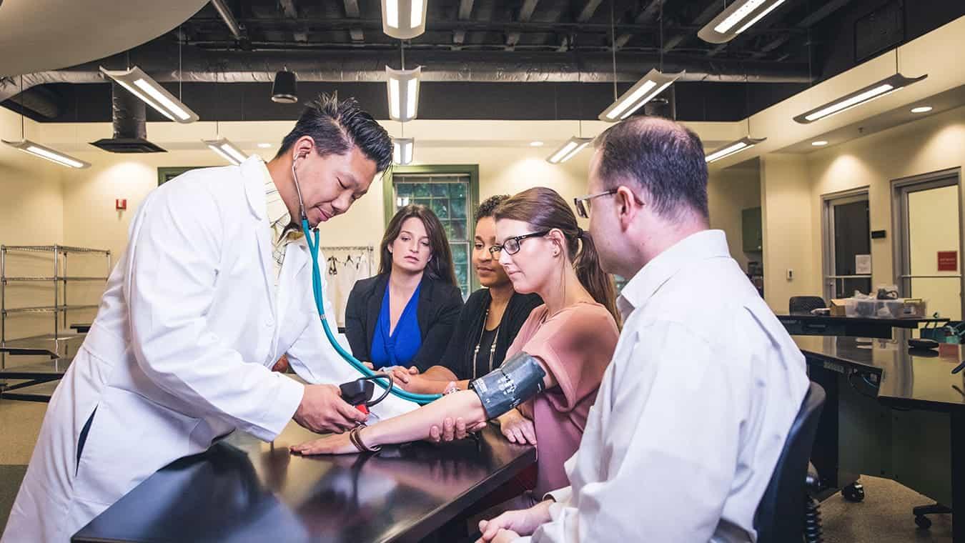 A nursing class: Explore the Health Sciences minor at Regent University, Virginia Beach, VA 23464.