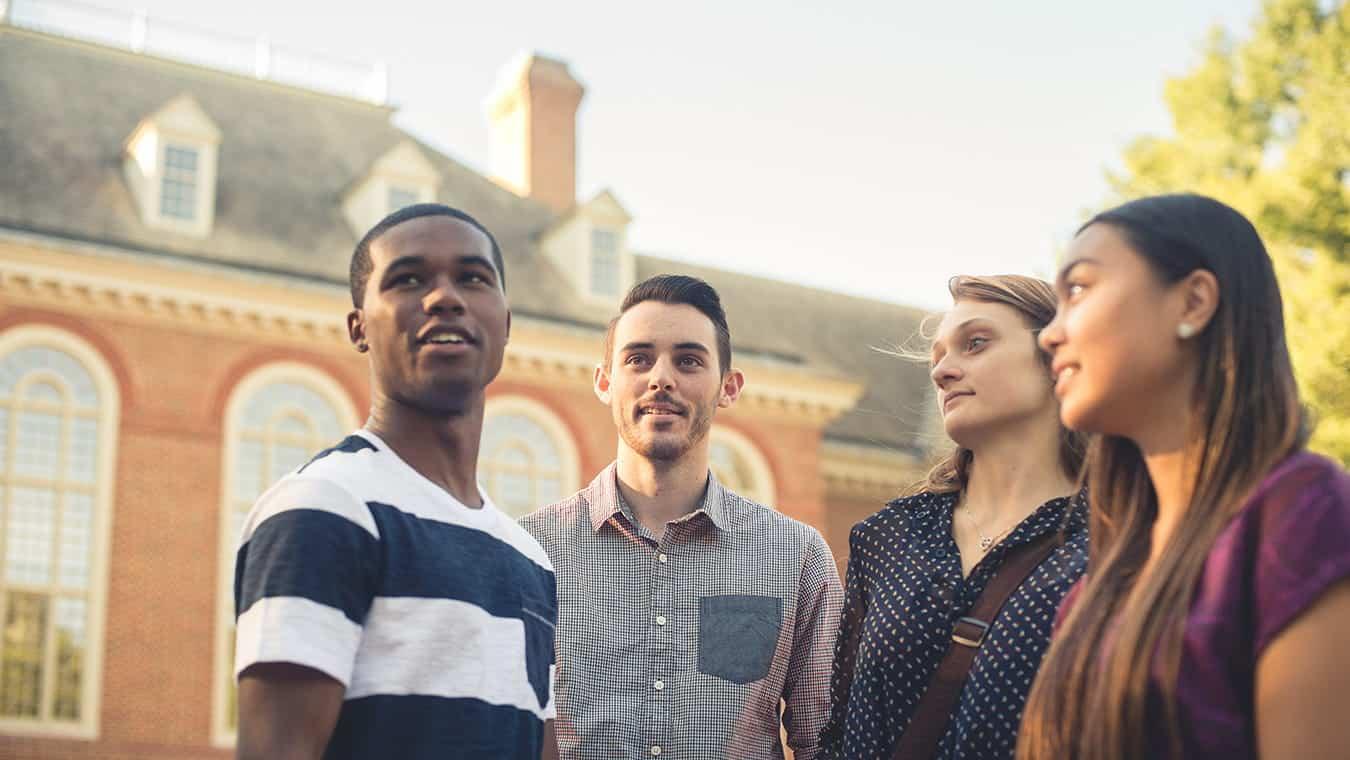 Graduates on campus: Pursue your B.S. in Gerontology degree online at Regent University, Virginia Beach.
