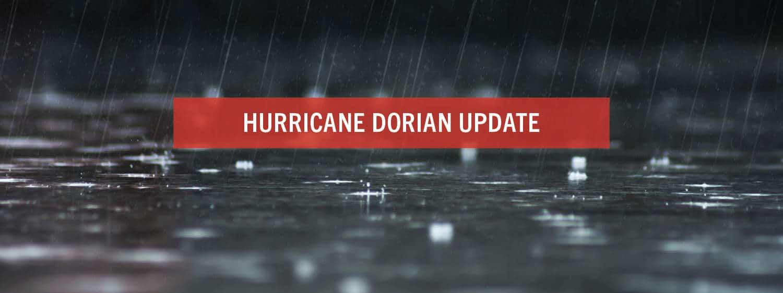 Hurricane Dorian update.