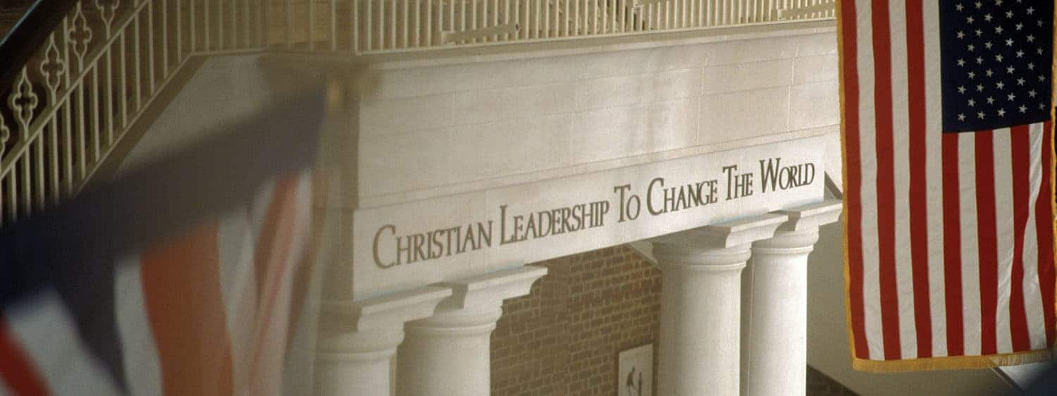 The vision of Regent University is to develop Christian Leadership to Change the World.