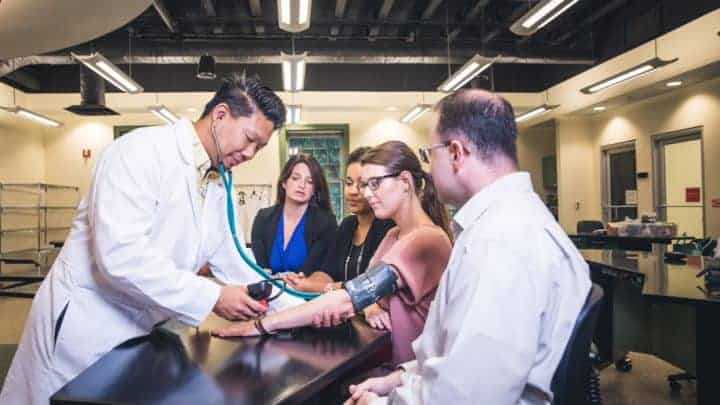 A nursing class: Pursue the master's in nursing education online program (MSN) at Regent University, Virginia Beach.