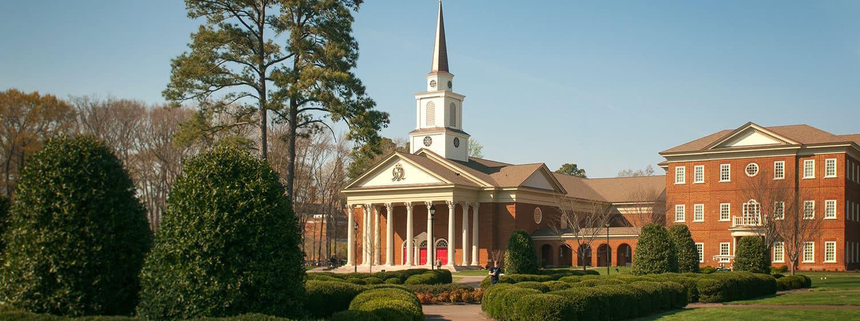 Regent University's chapel and Divinity Building, Virginia Beach.