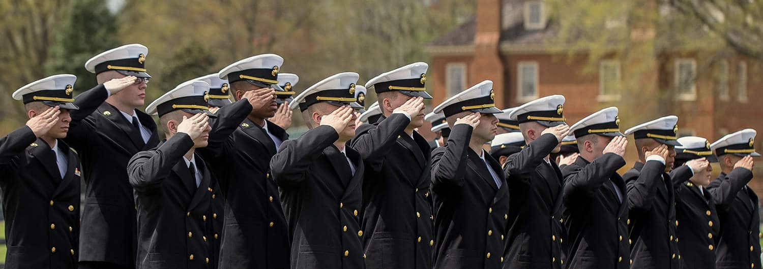Military personnel at Regent University, a military-friendly university in Virginia Beach.