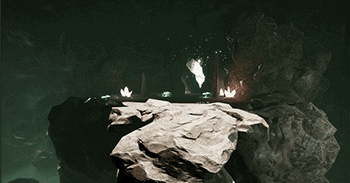 A cave scene from Ascent, a game developed by students at Regent University.