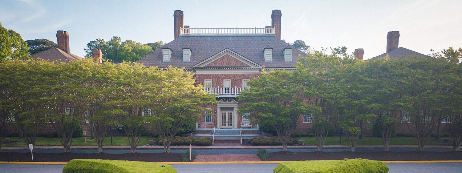 Regent University's Business Office is located in the Administration Building of its campus in Virginia Beach.
