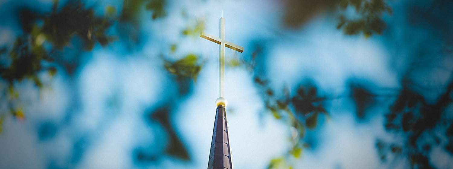 The Cross on the steeple of Regent University chapel in Virginia Beach, VA 23464.