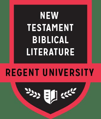 The New Testament Biblical Literature badge of Regent University.