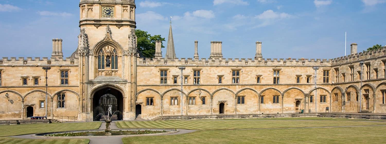 Christ Church College courtyard in Oxford
