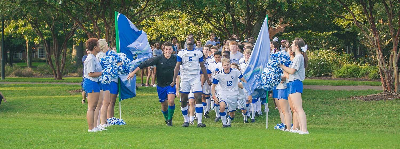 Student athletes at Regent University, Virginia Beach.
