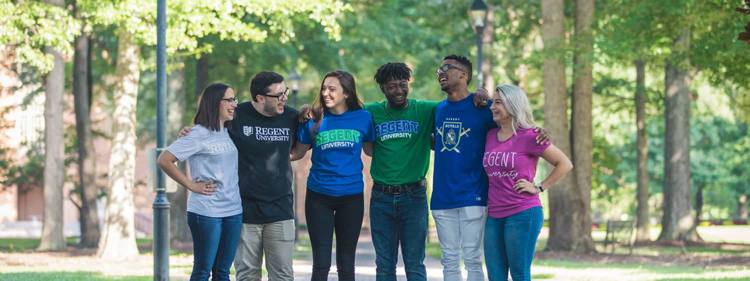 Students at Regent, a top-ranked Christian university with an online application process.