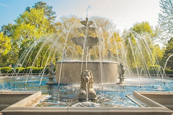 The fountain on Regent University's beautiful campus in Virginia Beach, VA 23464.
