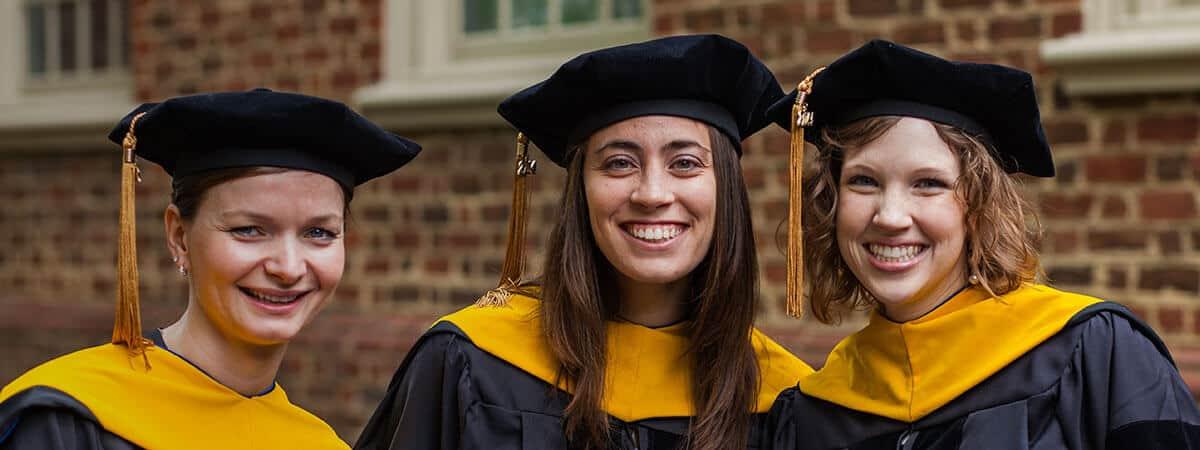 Regent University School of Psychology & Counseling graduates on Commencement day.