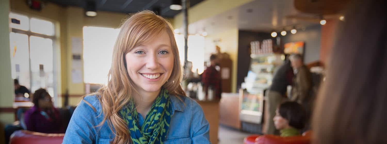 Regent University Student Smiling in shop