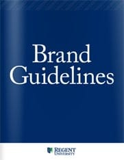 Brand guidelines, Regent University.