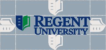 Clear space around the Regent University logo.