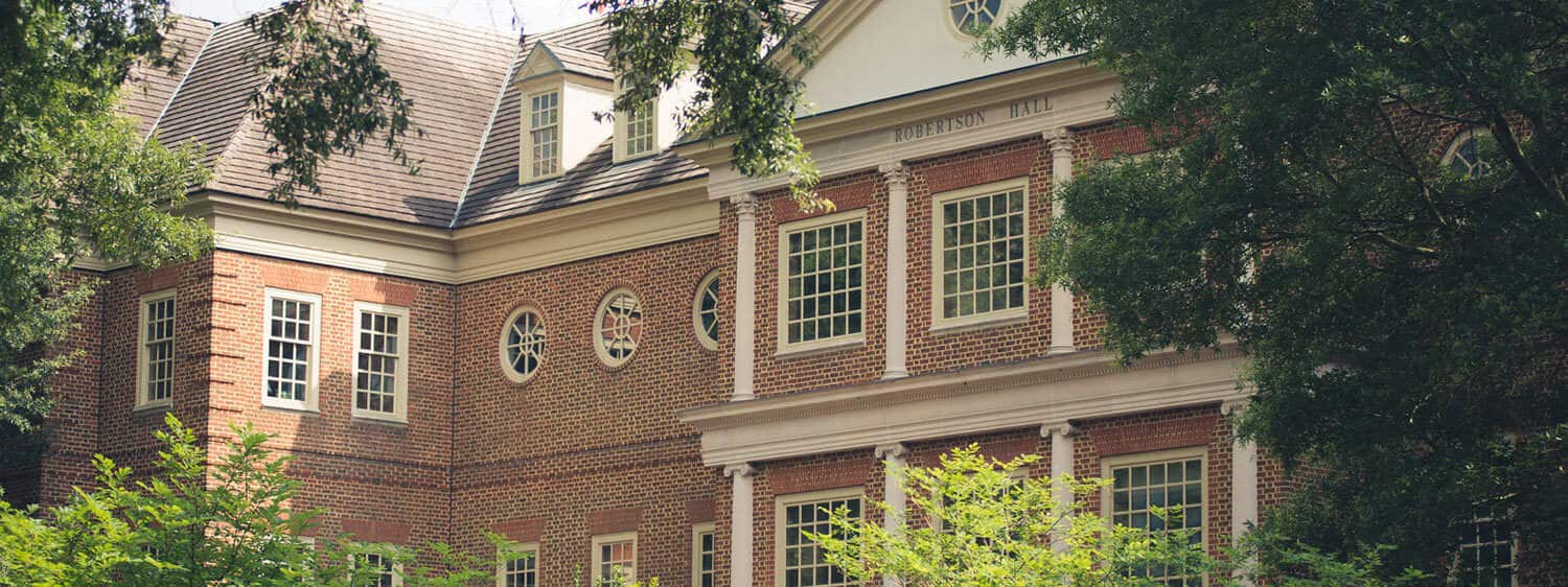 Outside view of Robertson Hall building at Regent University